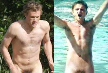 Heath ledger brokeback mountain naked